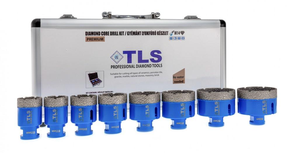TLS-PRO 8 db-os lyukfúró készlet 32-38-40-43-51-55-60-67 mm - alumínium koffer fehér