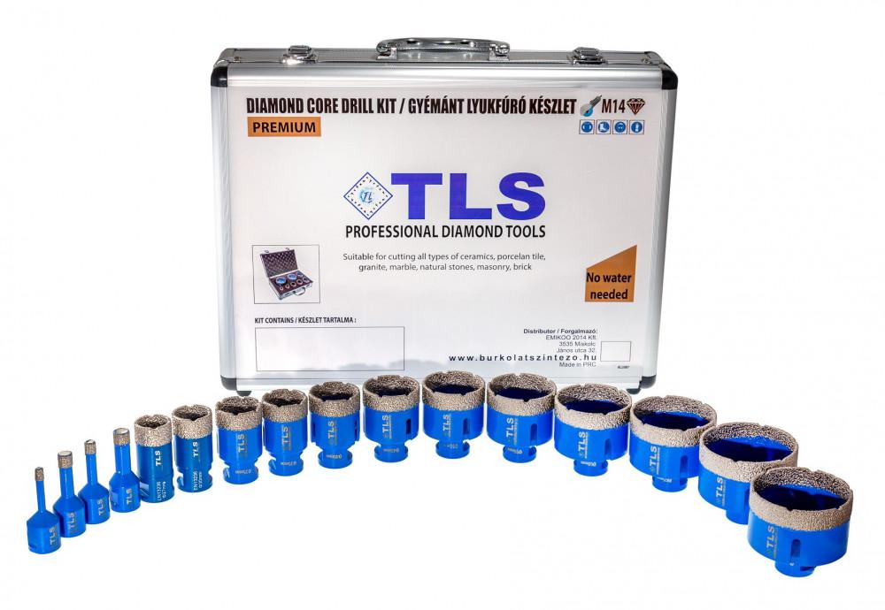 TLS lyukfúró készlet 6-10-12-16-20-25-30-38-38-40-45-55-60-65-68-68 mm - alumínium koffer