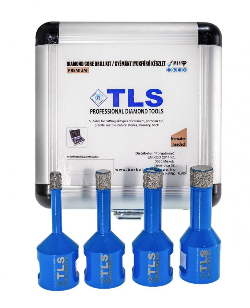 TLS lyukfúró készlet 6-8-10-12 mm - alumínium koffer