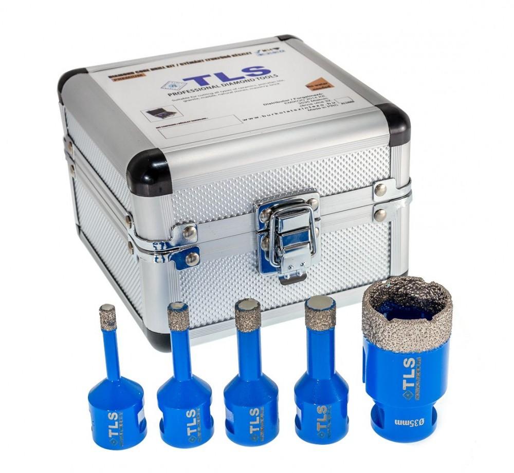 TLS lyukfúró készlet 6-8-10-12-38 mm - alumínium koffer