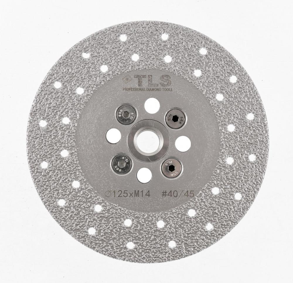 TLS VACUUM gyémánt csiszolótárcsa 2 oldalas M14x125 mm - közepes szemcseméret