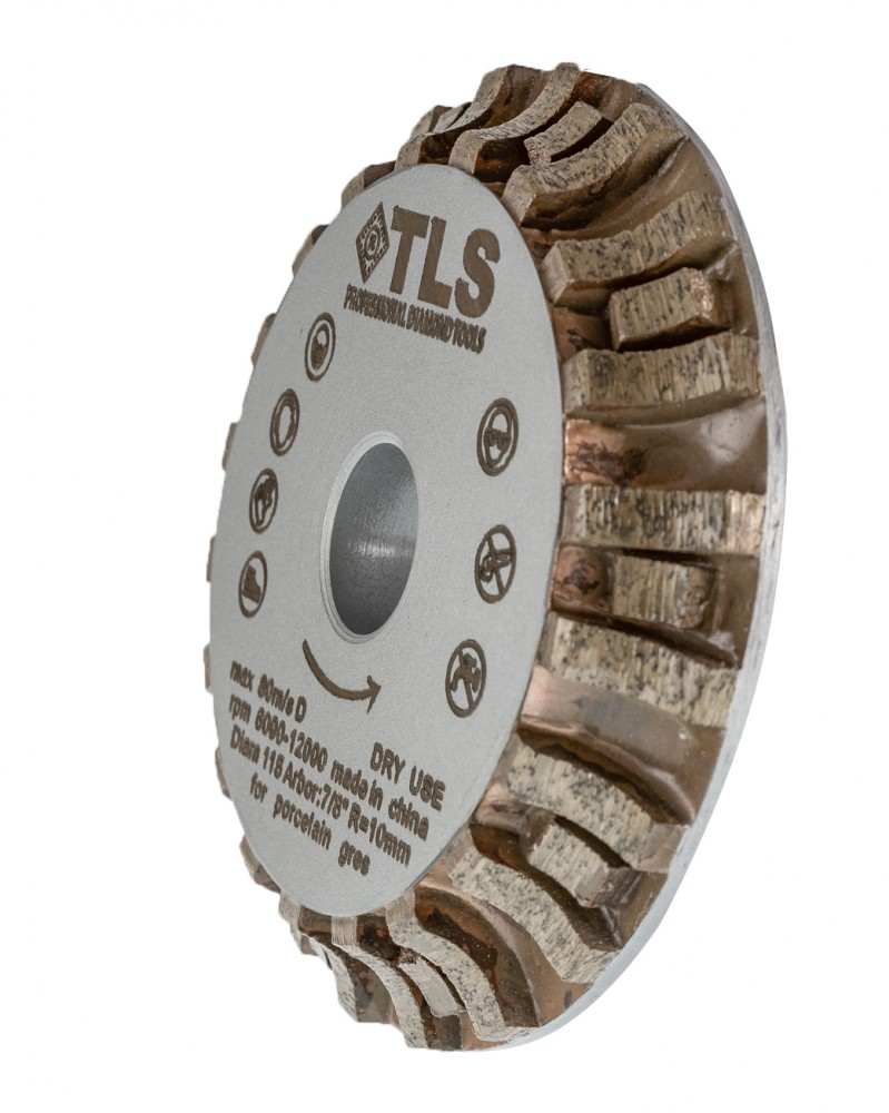 TLS RHINO Profilmaró-élmaró-gyémánttárcsa R10x22,23xD115 mm
